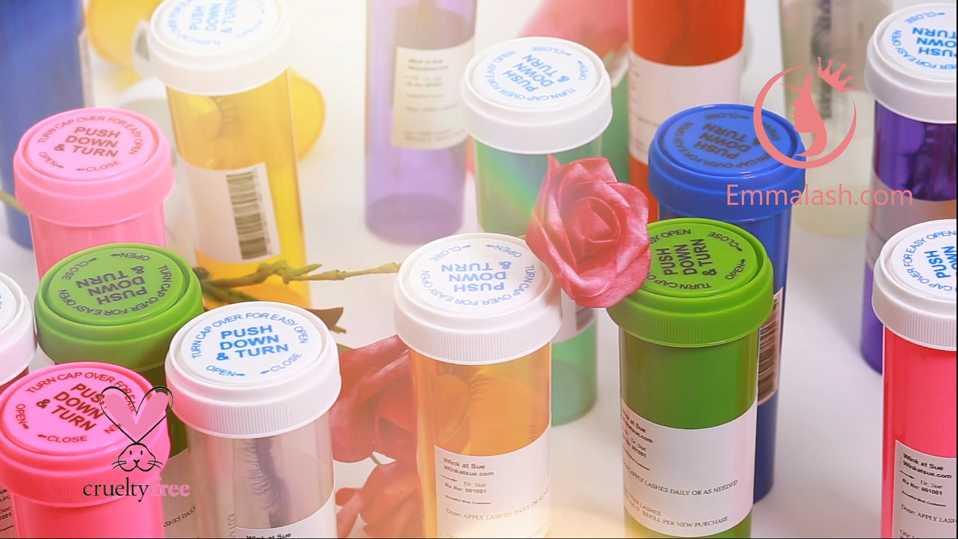 eyelash pill bottle case