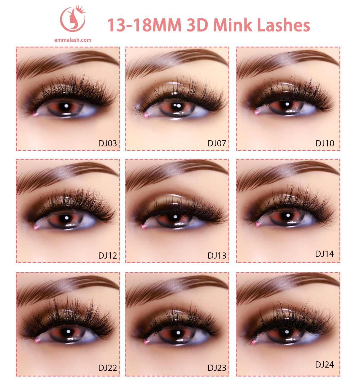 wholesale mink lashes Model 18mm 3