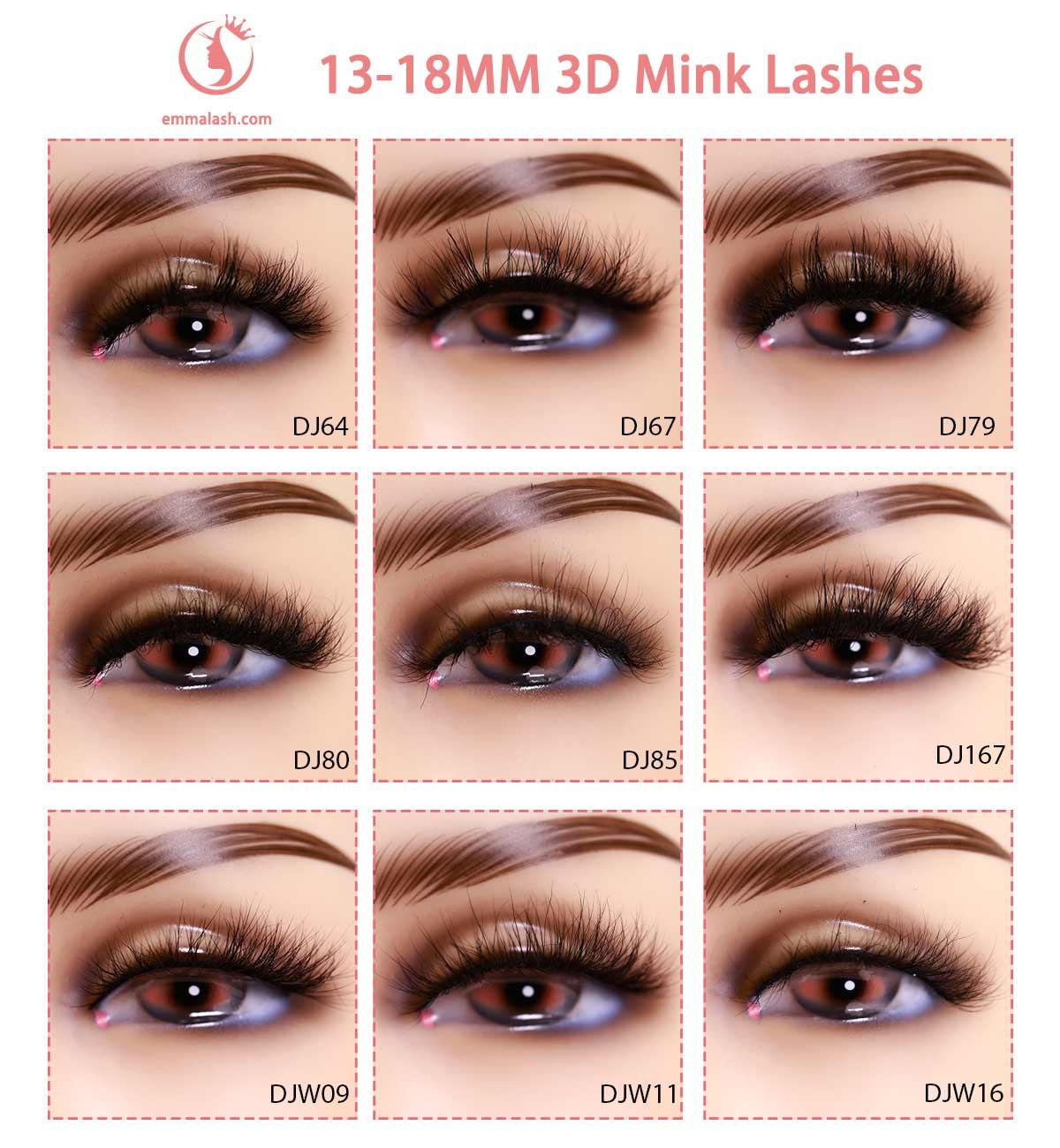 wholesale mink lashes Model 18mm