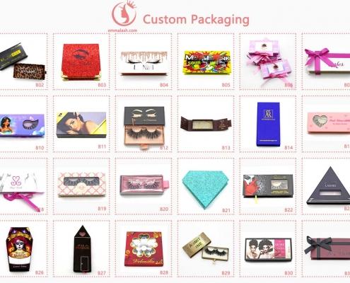 wholesale mink lashes customize box