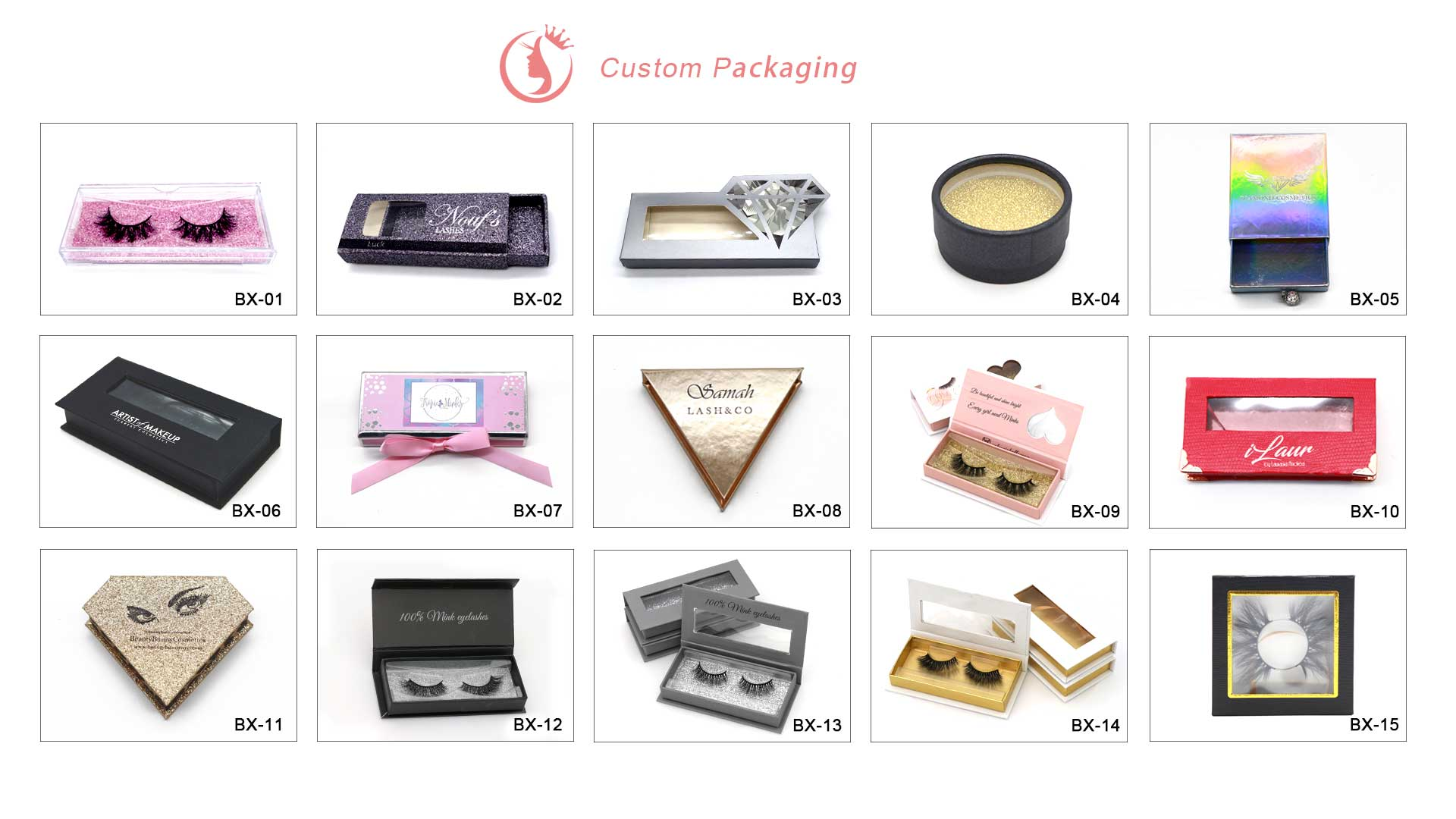 wholesale mink lashes custom box