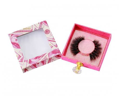 Red USD drawer lashes packaging with handle